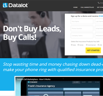 Datalot Website Screenshot